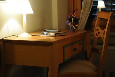 Scrivania in camera e tutti i comfort