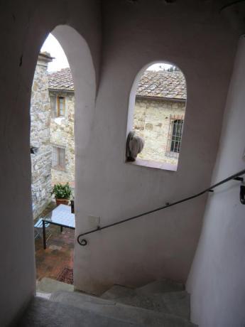 Scalinata relais Calenzano vicino Prato