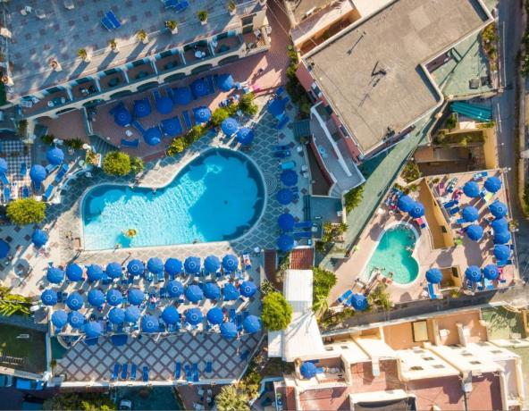 Piscina Termale esterna, Hotel 4 stelle Superior Ischia