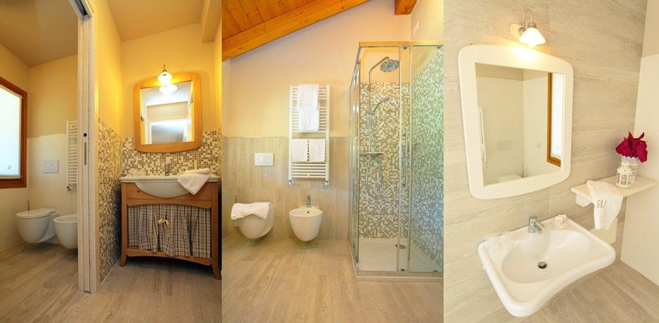 Alloggi romantici in Friuli con bagno con doccia