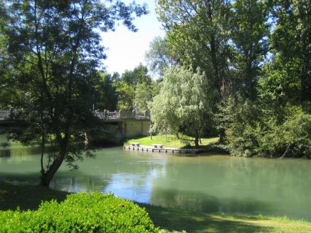 Paesaggio naturalistico nella città di Rivignano