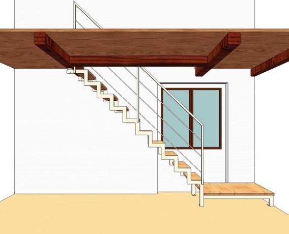 s92 scala prefabbricata ferro e legno