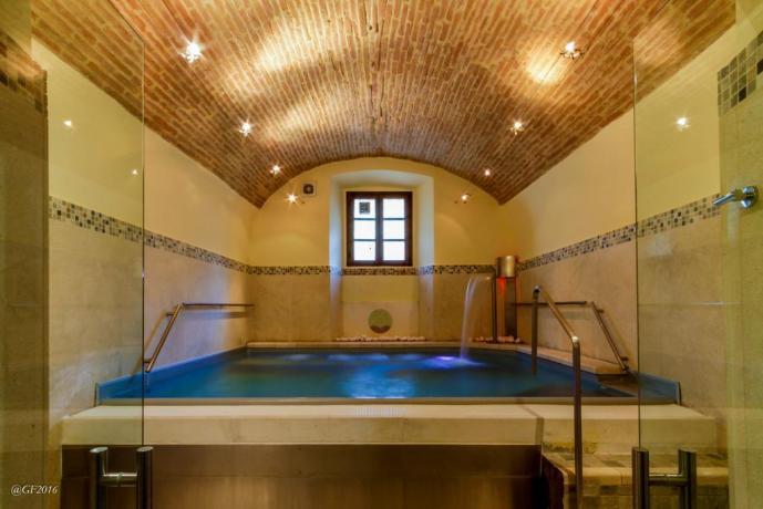 Mini piscina con cascate cervicali e idromassaggio
