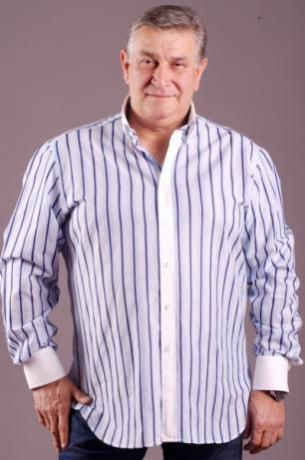Camicia uomo taglie forti maniche lunghe modello c