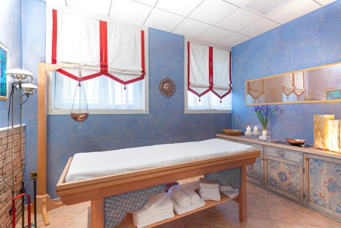 Zona massaggi rilassanti esclusivi per ospiti