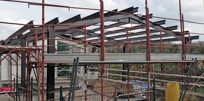 Struttura in acciaio prefabbricata per ampliamento - Struttura in ferro per casa ...