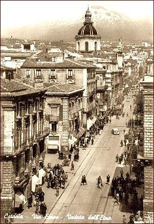 Catania, the street Via Etnea