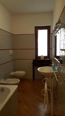 Bagno privato in camera Country House a Ferentillo
