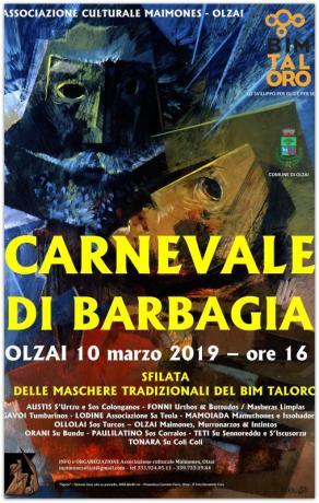 CARNEVALE DI BARBAGIA - SFILATA DELLE MASCHERE DEL BIM TALORO