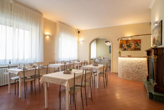 Colazione a buffet in villa con suite