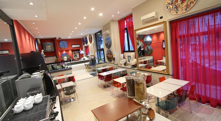 Sala colazioni hotel a Milano stile artistico