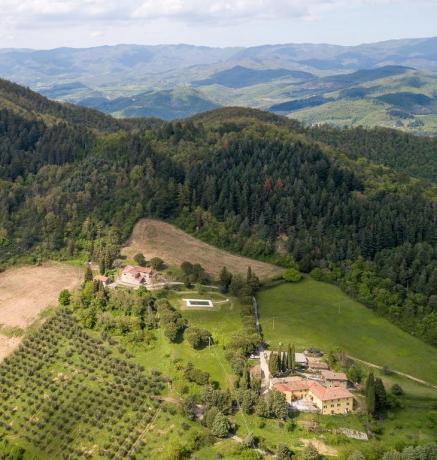 Vicino Firenze Azienda-Agrituristica Val di Sieve con Piscina