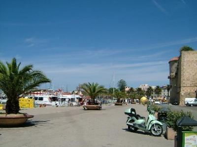 port of Alghero in Sardinia