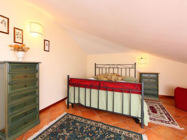 Camera Matrimoniale nella Villa Vacanze in Umbria