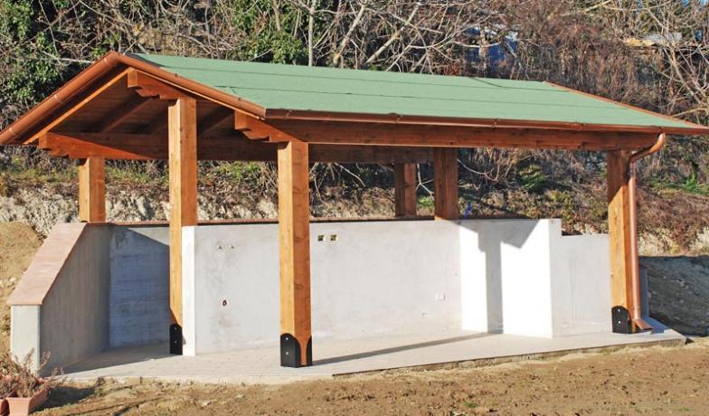 tettoie in legno prefabbricate su misura