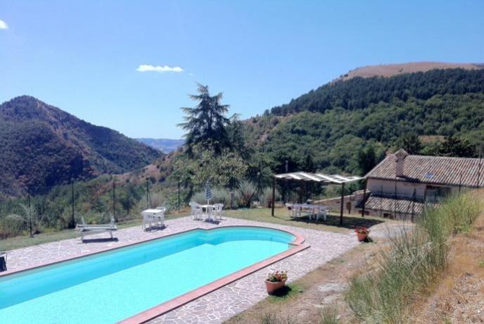 Agriturismo Parco Coppo Gubbio, piscina, mountain bike, trekking