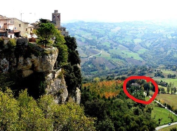 Villa tra Mare e Montagna nelle Marche