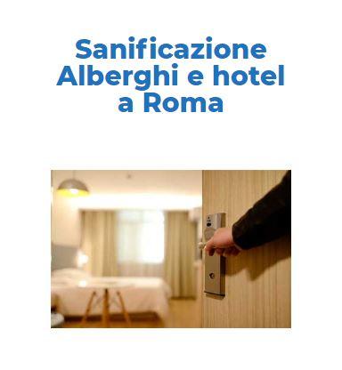 Sanificazione e Disinfezione Certificata CORONAVIRUS: CAMERE-HOTEL Roma