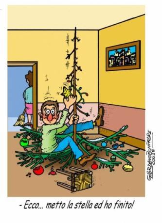 Vignetta   Albero di Natale   Cartoline   Fumetti