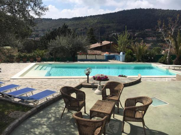 Villa vacanze con piscina e solarium a Perugia