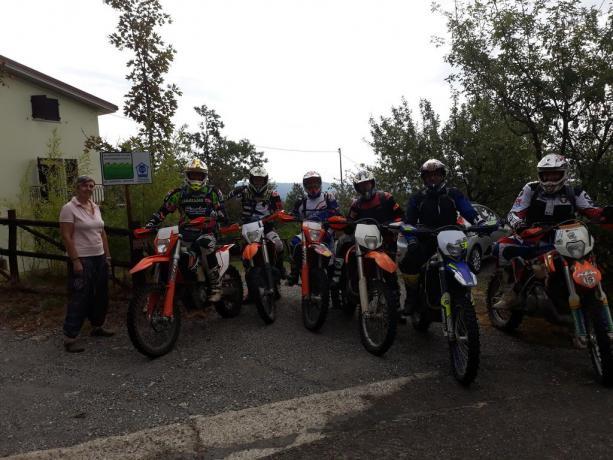 Escursioni Moto Enduro nell'Appennino Parmense Valtaro