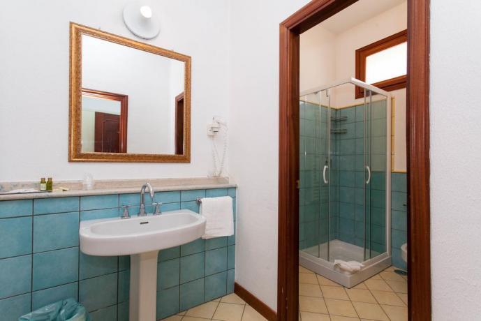 Bagno privato in camera Residence Palinuro