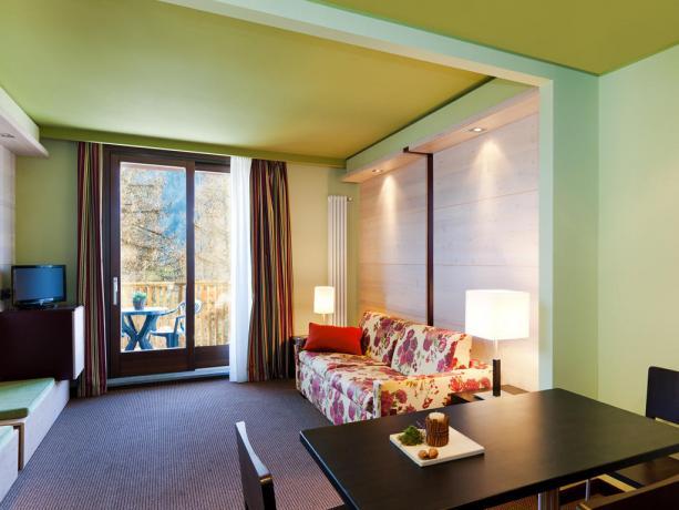Camera Familiare: Soggiorno con divano letto matrimoniale