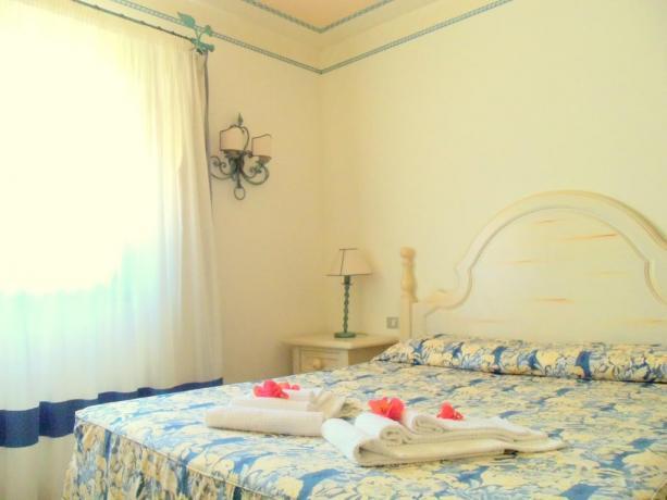 Camera matrimoniale appartamento hotel vicino Porto Cervo