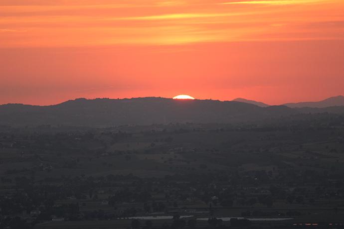 Tramonto Panoramico in Castello vicino a Spoleto