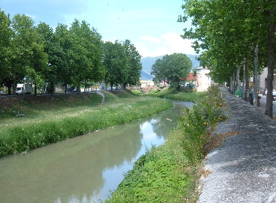 Topino river surrounding Foligno