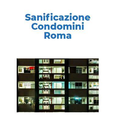 Sanificazione e Disinfezione Certificata CORONAVIRUS: CONDOMINIO Roma