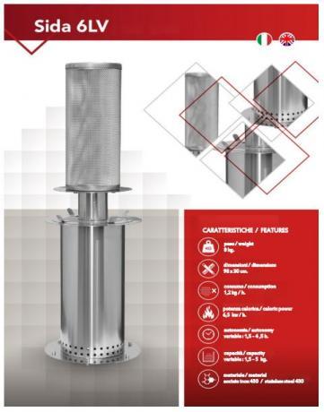 Fungo/Totem Riscaldante mod. SIDA-6LV alta efficienza basso-consumo