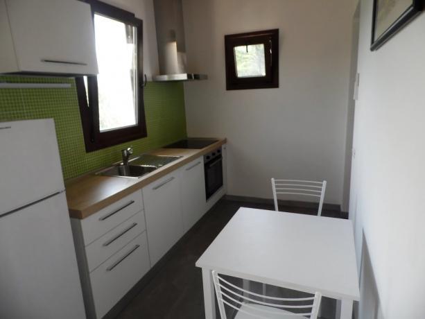 La Cucina  attrezzata nell 'Appartamento Romantic