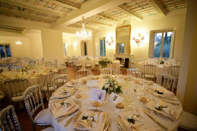 Salone per matrimonio con wedding-planner residenza Perugia