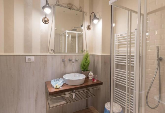 Bagno design con doccia