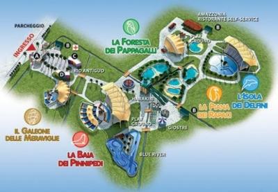 Mappa parco acquatico Zoomarine