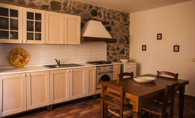 Angolo cottura in soggiorno Agriturismo Lazio
