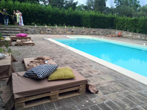 Piscina in villa esclusiva eventi e matrimoni Perugia-Piscille