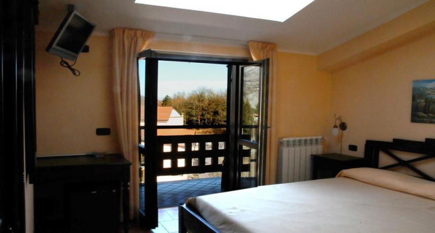 Terrazzo camera matrimoniale hotel vicino Roccaraso