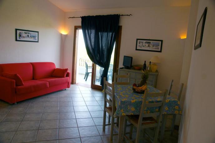 Salotto Appartamenti vacanza nel Residence a Palau