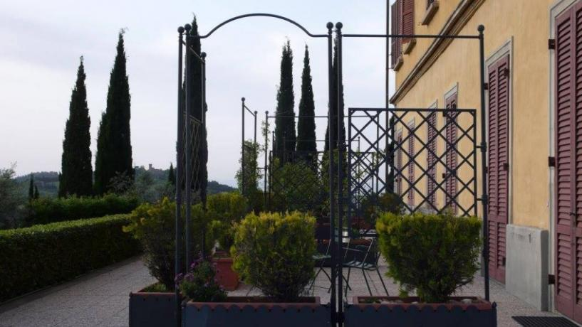 Camera con TV, aria condizionata e terrazza panoramica