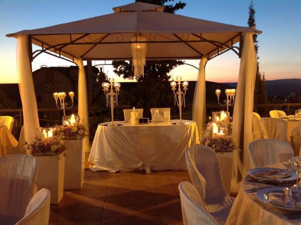 Tavolo Sposi: Hotel Ristorante vicino Caltagirone