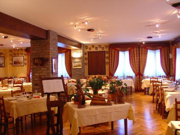 Ristorante Hotel Valle d'aosta con piatti locali