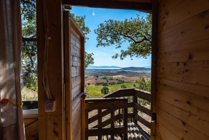 Dormire sull'Albero vicino Mare Toscana