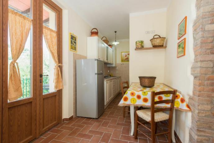Cucina dell'appartamento Rifugio