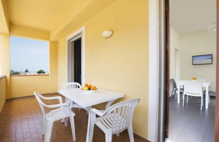 Casa vacanze vicino al mare con cucina-terrazzo San-Vito-lo-Capo