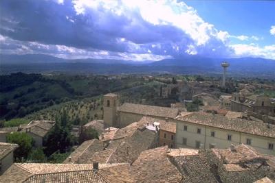 Montefalco: terrace on Umbria