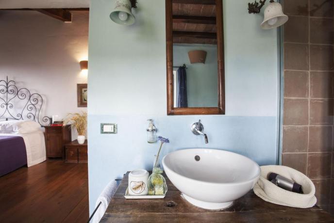 Suite in Toscana con Bagno-Privato Doccia e Vasca