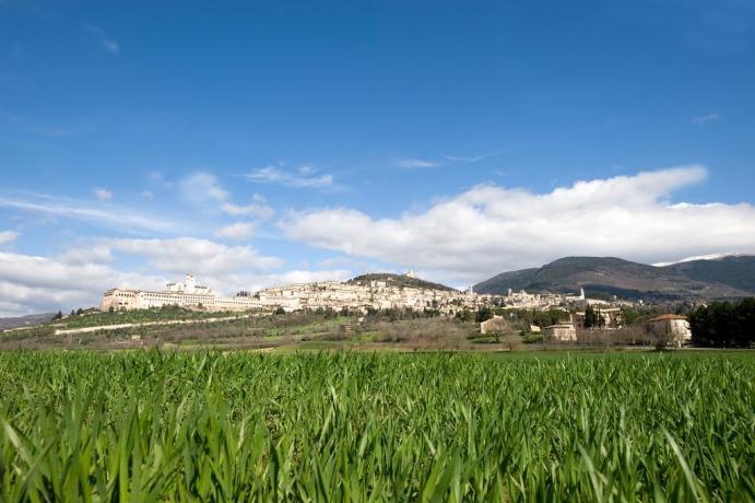 Panorama su Assisi