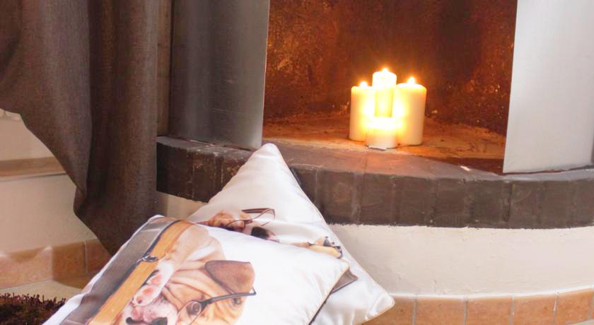 Romantico caminetto del Bed and Breakfast